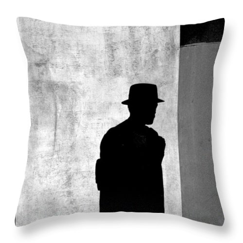 Abstract Throw Pillow featuring the photograph The Last Time I Saw Joe by Steven Huszar