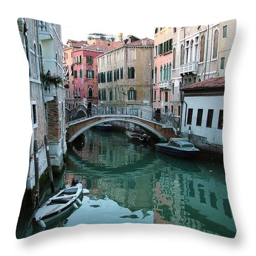 Landscape Throw Pillow featuring the photograph The Leaning Boat by Donna Corless