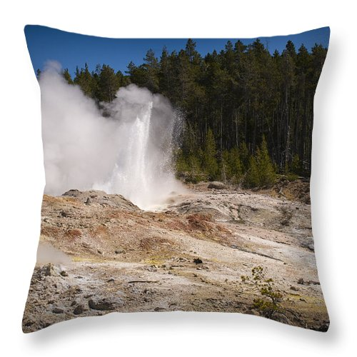Chad Davis Throw Pillow featuring the photograph The Ledge by Chad Davis