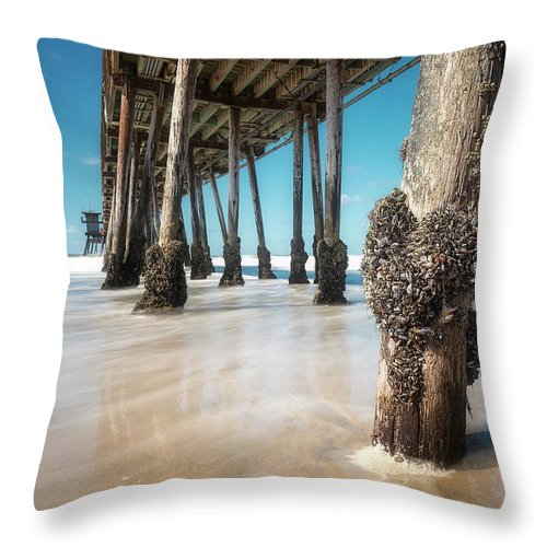 Barnacle Throw Pillow featuring the photograph The Life Of A Barnacle by Ryan Manuel