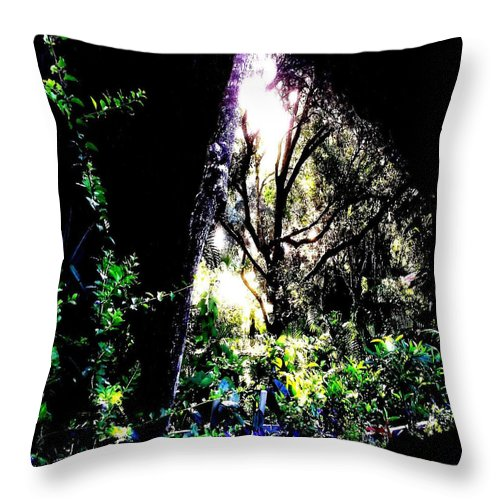 Square Throw Pillow featuring the digital art The Light At The End Of The Triangle by Eikoni Images