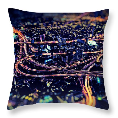 Landscape Format Throw Pillow featuring the photograph The Light Curves by Radek Spanninger