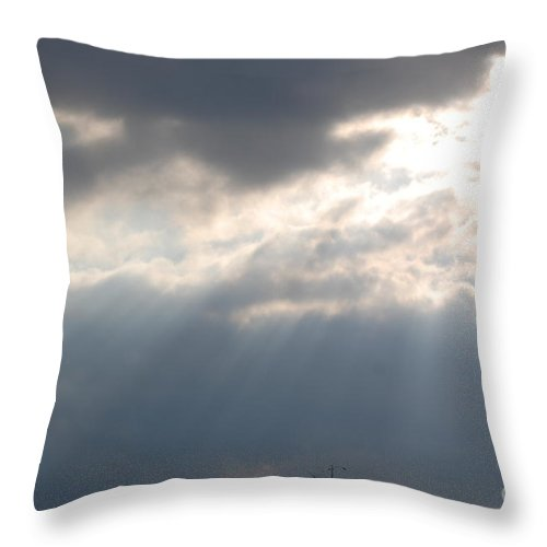 Sunshine Throw Pillow featuring the photograph The Light by Donna Bentley