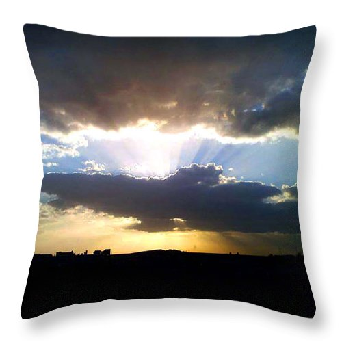 Sky Scape Throw Pillow featuring the photograph The Light by Farah Faizal