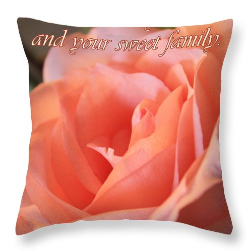 Card Throw Pillow featuring the photograph The Light Of God by Carol Groenen