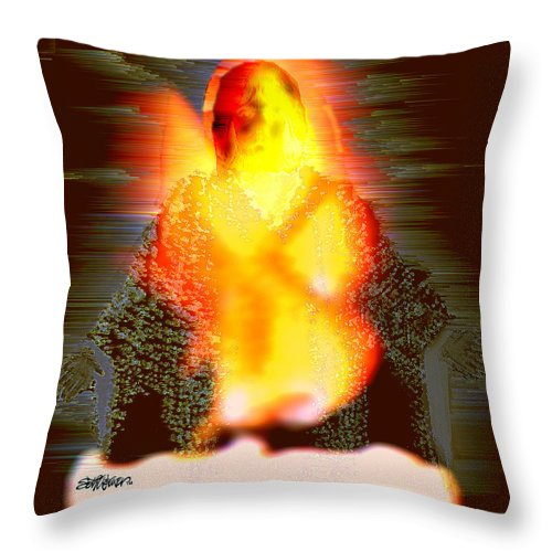 The Light Of The World Throw Pillow featuring the digital art The Light Of The World by Seth Weaver