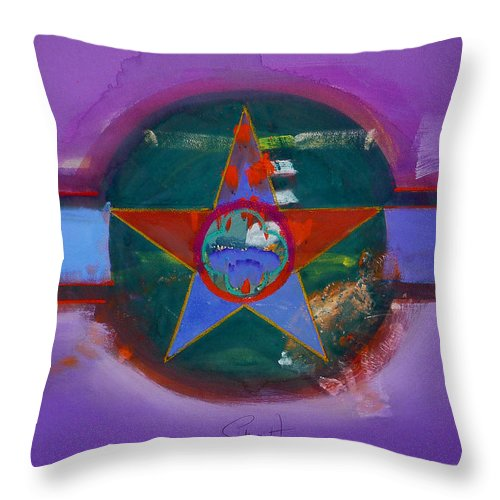 Star Throw Pillow featuring the painting The Lighthouse Keeper by Charles Stuart