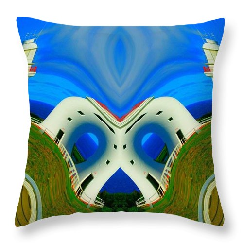 Lorles Lifestyles Throw Pillow featuring the photograph The Lighthouse Racetrack by Lorles Lifestyles