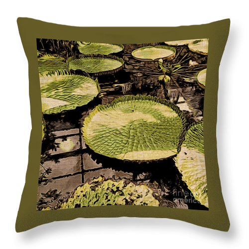 Lilies Throw Pillow featuring the photograph The Lily Pads by Onedayoneimage Photography