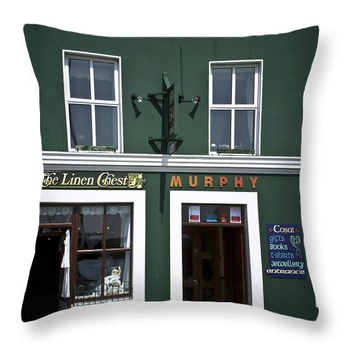 Irish Throw Pillow featuring the photograph The Linen Chest Dingle Ireland by Teresa Mucha