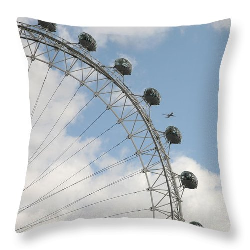 Ferris Throw Pillow featuring the photograph The London Eye by Christopher Rowlands