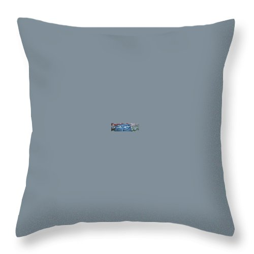 Bluebird Throw Pillow featuring the greeting card The Lone Bluebird by Jeniffer Stapher-Thomas