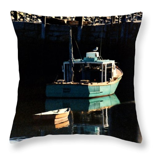 Boat Throw Pillow featuring the painting The Lookout by Paul Sachtleben