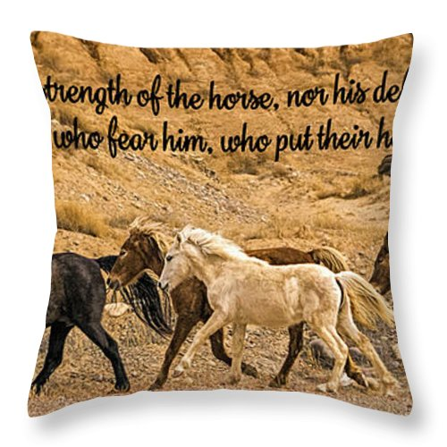 The Lord's Delight Throw Pillow featuring the photograph The Lord's Delight by Priscilla Burgers