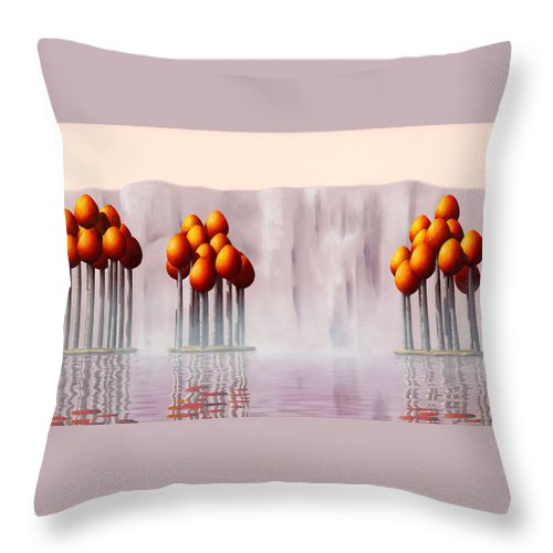 Architecture Throw Pillow featuring the painting The Lost Ones by Patricia Van Lubeck