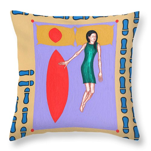Loss Throw Pillow featuring the painting The Lovers by Patrick J Murphy