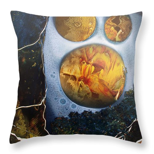 Moonman Throw Pillow featuring the painting The Man In The Moon by Arlene Wright-Correll