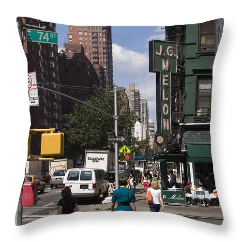 Woman Throw Pillow featuring the photograph The Manhattan Sophisticate by Madeline Ellis