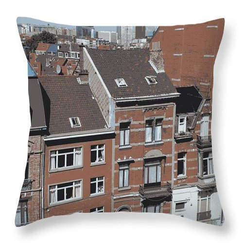 Brussels Throw Pillow featuring the photograph The Many Layers Of Brussels by Carol Groenen