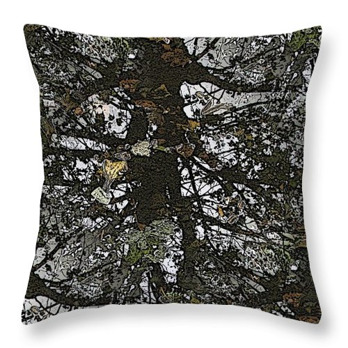 Throw Pillow featuring the digital art The Marsh by Tim Allen