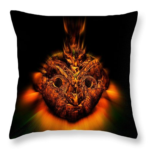 Native Art Throw Pillow featuring the photograph The Mask by Andy Klamar