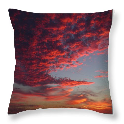 Sunset Throw Pillow featuring the photograph The Master Painter by Linda Murphy