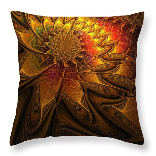 Digital Art Throw Pillow featuring the digital art The Midas Touch by Amanda Moore