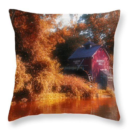 Mill Throw Pillow featuring the photograph The Mill by Kenneth Krolikowski