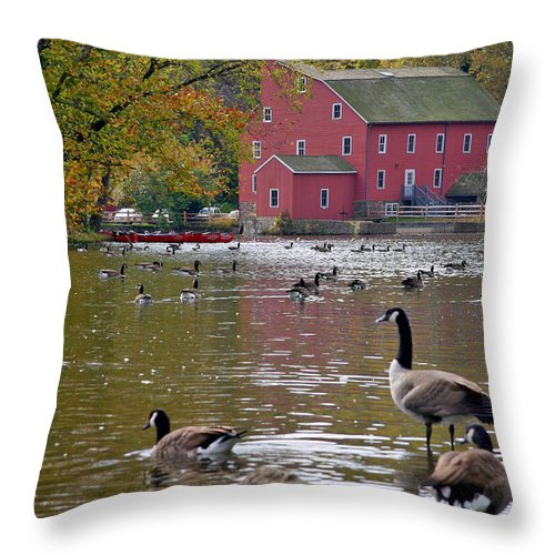 Mill Throw Pillow featuring the photograph The Mill by Scott Mahon
