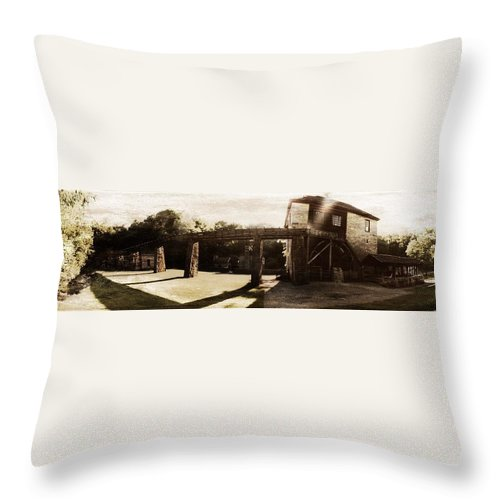 Summer Throw Pillow featuring the photograph The Mill by Tatiana Gorbett