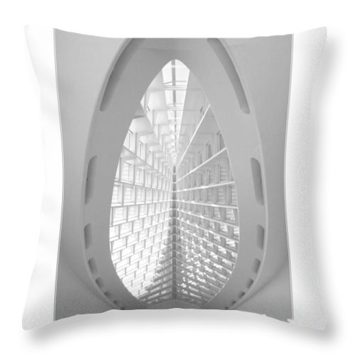 Milwaukee Throw Pillow featuring the photograph The Milwaukee Art Museum II by Mike McGlothlen
