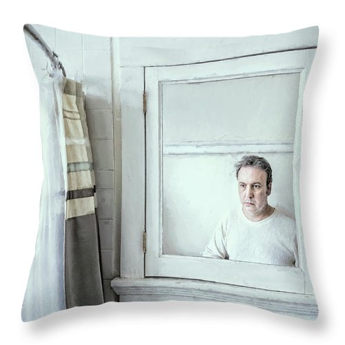 Portrait Throw Pillow featuring the photograph The Mirror by Scott Norris