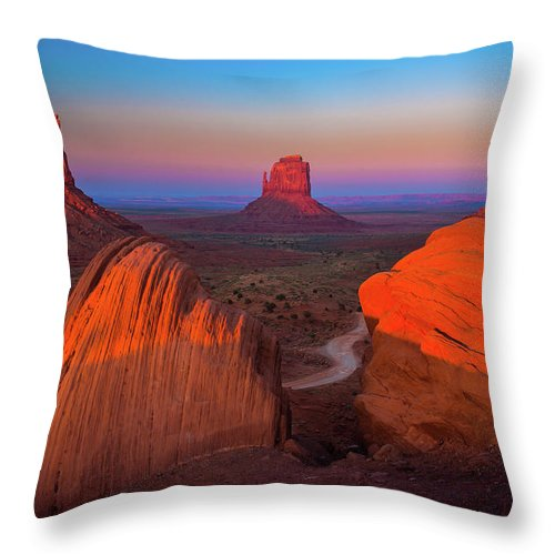 America Throw Pillow featuring the photograph The Mittens by Inge Johnsson