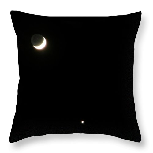 Moon Throw Pillow featuring the photograph The Moon And Stars by Gale Cochran-Smith