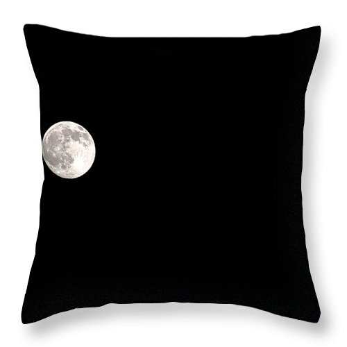 Clay Throw Pillow featuring the photograph The Moon by Clayton Bruster
