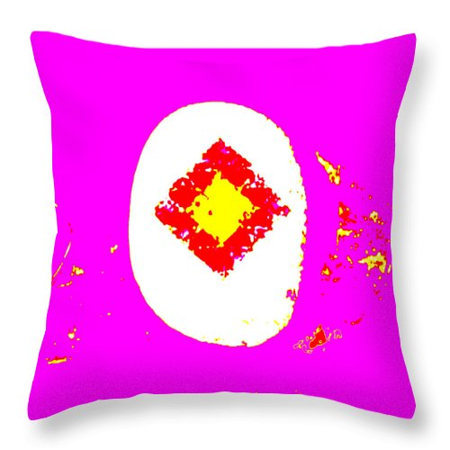 Square Throw Pillow featuring the digital art The Moon Pool by Eikoni Images