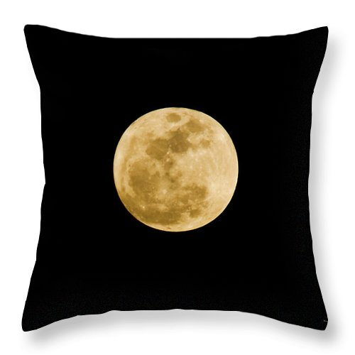 Moon Throw Pillow featuring the photograph The Moon by Scott Pellegrin