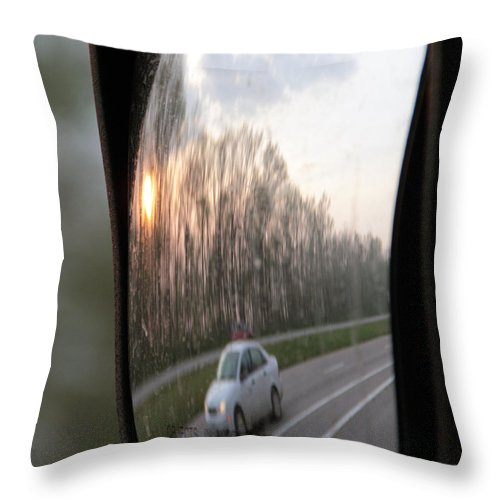 Flowers Throw Pillow featuring the photograph The Morning Commute II by Paul Shefferly
