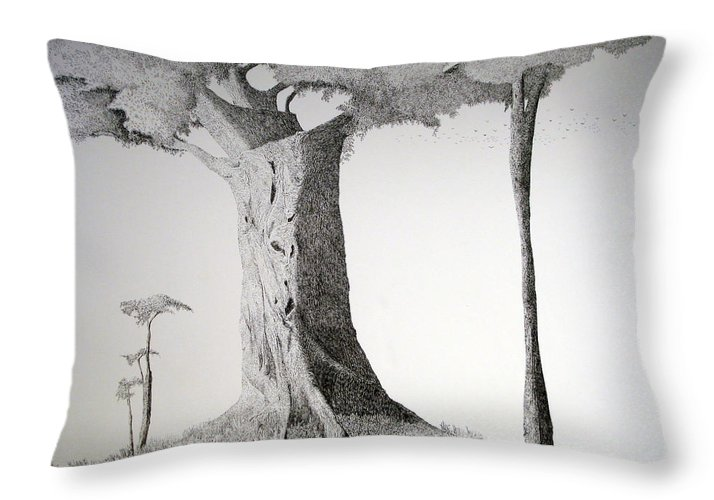 Landscape Throw Pillow featuring the painting The Mother Lode by A Robert Malcom