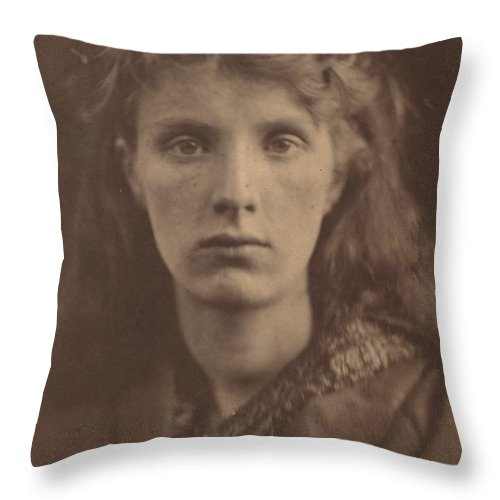 Throw Pillow featuring the photograph The Mountain Nymph, Sweet Liberty by Julia Margaret Cameron