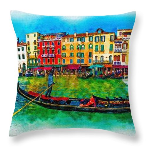 Venice Throw Pillow featuring the digital art The Mystique Of Italy by Don Kuing