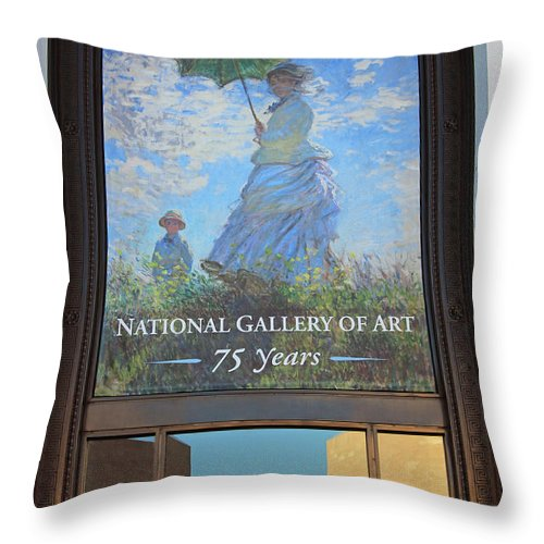 National Throw Pillow featuring the photograph The National Gallery Of Art Is 75 Years Old by Cora Wandel