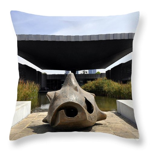 The National Museum Of Anthropology Throw Pillow featuring the photograph The National Museum Of Anthropology by Andrew Dinh