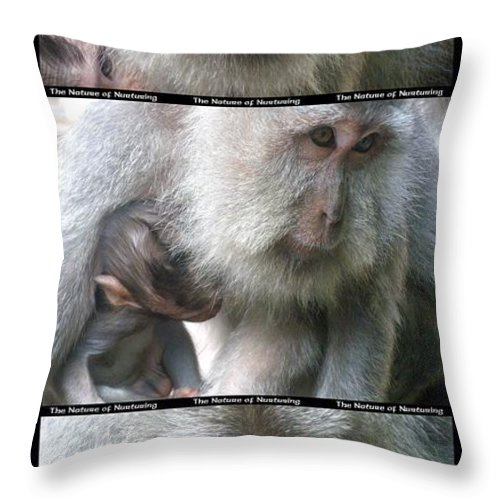 Bali Throw Pillow featuring the photograph The Nature Of Nurturing by Mark Sellers
