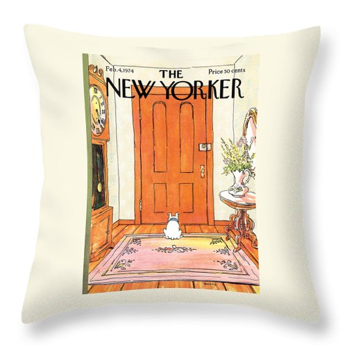 Animal Throw Pillow featuring the photograph The Long Wait by George Booth