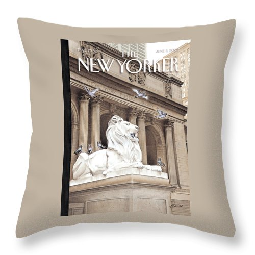 New Throw Pillow featuring the photograph It Is A Jungle Out There by Harry Bliss