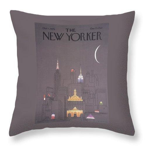 New Yorker October 1st, 1979 Throw Pillow