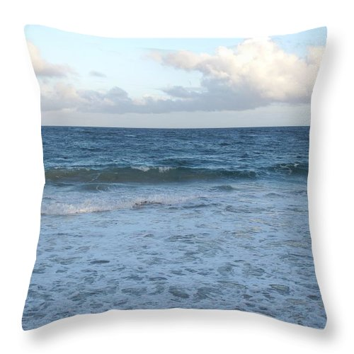 Surf Throw Pillow featuring the photograph The Next Wave by Ian MacDonald