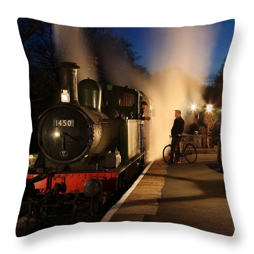 Steam Throw Pillow featuring the photograph The Night Shift by Robert Sherwood