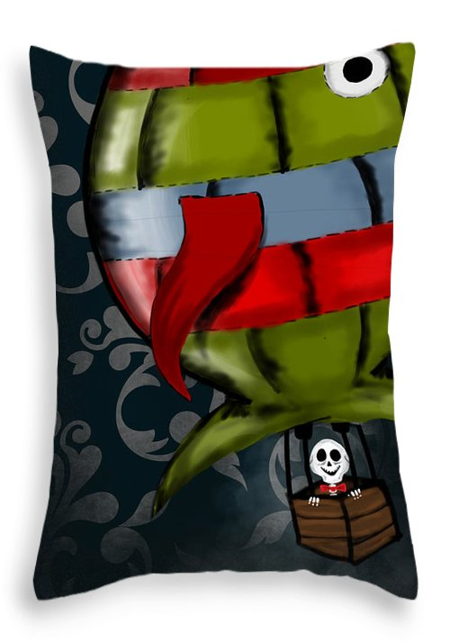 Hot Throw Pillow featuring the painting The Night Watcher by Dan Pearce